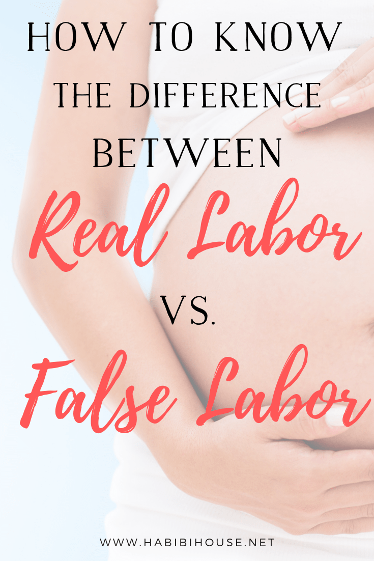 What are the main signs that you are in real labor and not false